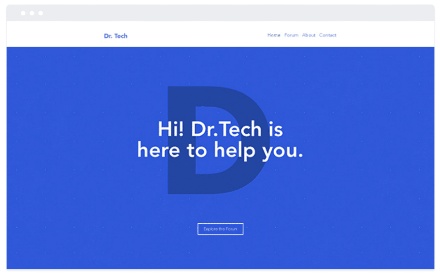 Web Design Concepts: Big Bold Typography