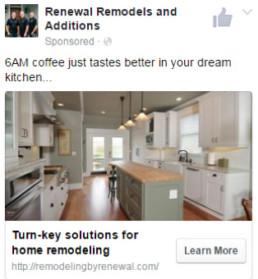 Renewal facebook ad